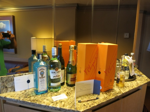 The bar in our suite... should last a few days...