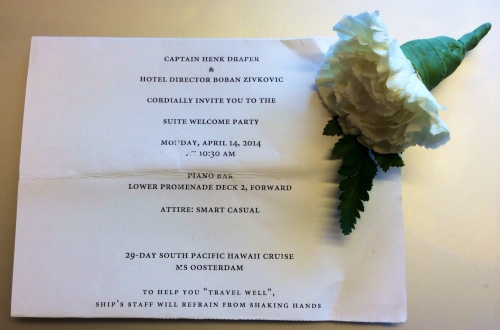 Captain's Welcome Party Invitation