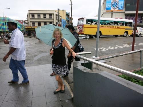 Suva in the rain.
