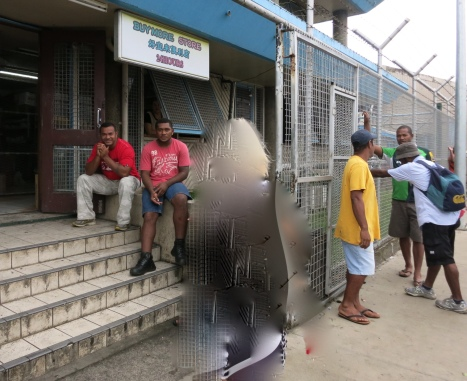The secure store in Suva port.