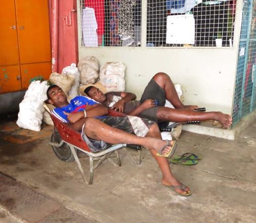 It's been a hard days night! Suva Market